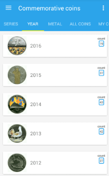 "Android app ""Coins of Ukraine"""