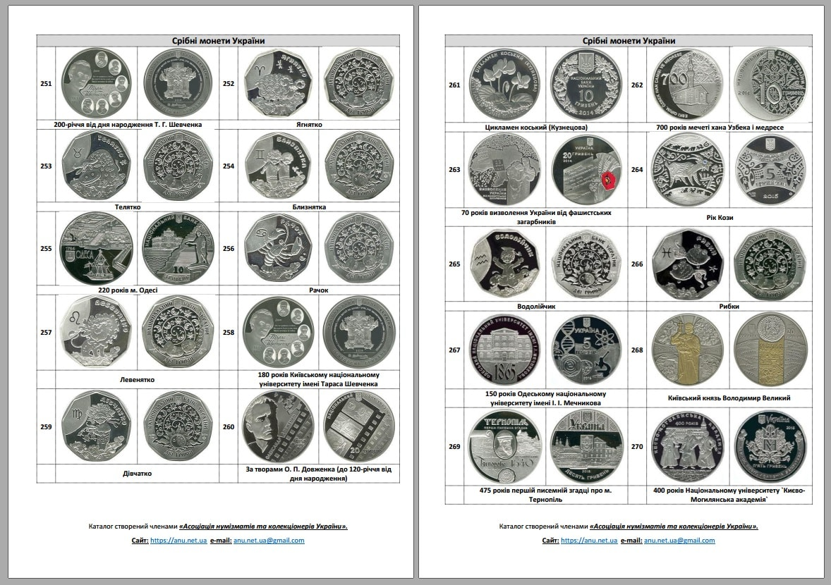 Catalog2017p3 Catalogue of coins of Ukraine №6. 2017